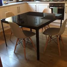 Dining Room Furniture Ikea by Ikea Black Dining Table