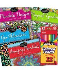 Colored Pencils And Timeless Creations Coloring Books