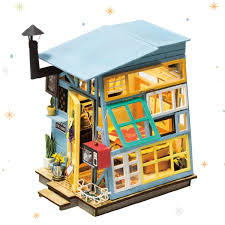 ROBOTIME DIY Dollhouse Kits With Accessories Miniature House