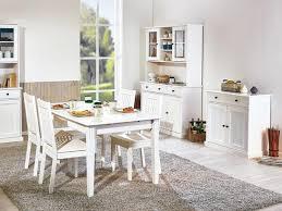 weißer esstisch im landhausstil
