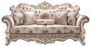 casa padrino luxus barock sofa rosa weiß gold 230 x 100 x h 110 cm wohnzimmer sofa mit glitzersteinen und dekorativen kissen barockmöbel