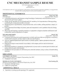 Cnc Machinist Resume Ideas Collection Objective Examples Cool Sample Cover