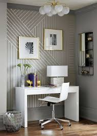 DIY Linear Wallpaper Living Room Accent WallBedroom Feature