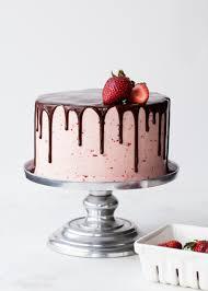 Chocolate Dipped Strawberry Cake