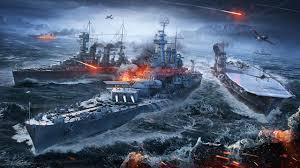 fonds d ecran world of warship navire porte avions jeux armée