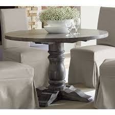 Muses Weathered Pepper Finish Round Dining Table Grey Free With Regard To Prepare 1