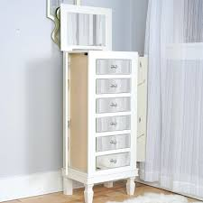 White Mirrored Jewelry Cabinet Armoire Canada by White Cheval Led Jewelry Armoire Mirror Canada Chest Faedaworks Com