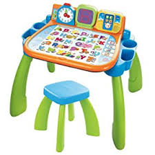 Easel Desk With Stool by Amazon Com Vtech Touch And Learn Activity Desk Frustration Free