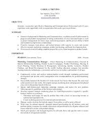 Marketing Resume Objectives Examples Objective Photo Gallery Of The