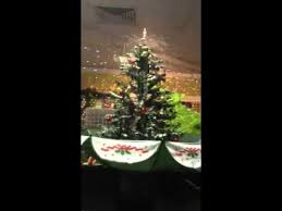 Snowing Christmas Tree In Umbrella