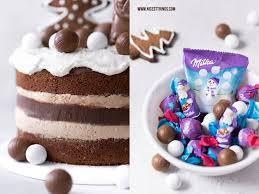 weihnachts torte mit nougat haselnuss kuchen und milka