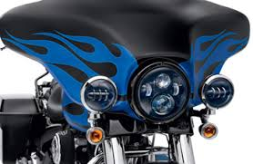 new harley davidson black led headl and auxiliary ls at
