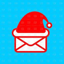Santas Mail Christmas Post Envelope And Santas Hat Vector Image
