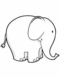Animal Coloring Pages For Kids Cute Elephant