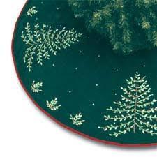Green Christmas Tree Velvet Ribbon Skirt 54 CF