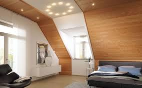 echtholzpaneele deckenarchitektur schlafzimmer design
