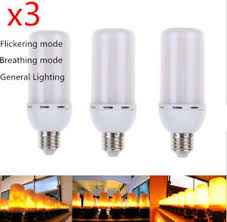 3x e27 led 5w 1300k flicker effect light l corn bulb
