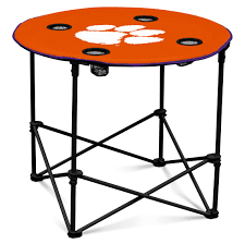 Logo Brands. Clemson Round Table Black Clemson Tigers Portable Folding Travel Table Ventura Seat Recliner Chair Buy Ncaa Realtree Camo Big Boy Game Time Teamcolored Canvas Officials Defend Policy After Praying Man Is Asked Oniva The Incredibles Sports Kids Bpack Beach Rawlings Changer Tailgate Tailgating Camping Pong Jarden Licensing Tlg8 Nfl Tennessee Titans Ebay