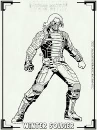 View Larger Captain America Civil War Printable Coloring Pages Soldier To Print With M Page L