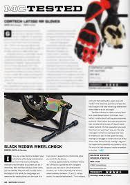 Black Widow Deluxe Motorcycle Wheel Chock | Discount Ramps