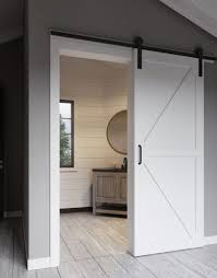 K-Bar Style Barn Door Kit | Jeff Lewis Design White Barn Door Track Ideal Ideas All Design Best 25 Sliding Barn Doors Ideas On Pinterest 20 Diy Tutorials Jeff Lewis 36 In X 84 Gray Geese Craftsman Privacy 3lite Ana Door Closet Projects Sliding Barn Door With Glass Inlay By Vintage The Strength Of Hdware Dogberry Collections Zoltus Space Saving And Creative