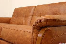Ethan Allen Leather Sofa Peeling by Caramel Leather Sofa Bed Brand New Next Armitage Dark Tan Leather
