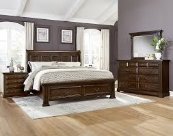 Vaughan Bassett Dresser Drawer Removal by Woodlands Cherry Sleigh Storage Bed Bernie U0026 Phyl U0027s Furniture