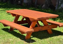 Quality solid wooden tables for outdoors