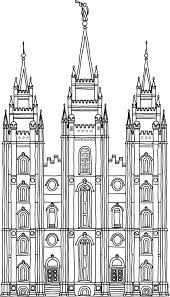 Salt Lake City Temple Coloring Page