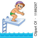 Diver Clipart Diving Board