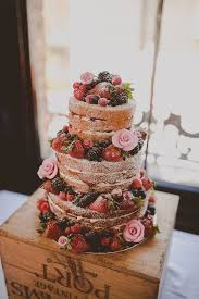Mixed Berry Naked Cake With Rose