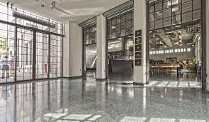 Black Terrazzo Theatre Lobby