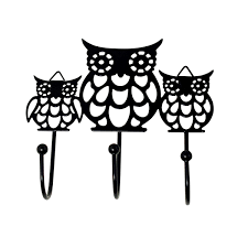 Decorative Key Rack For Wall by Metal Cut Out Owl Family Wall Hook Key Holder