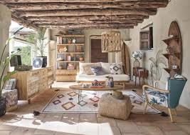 wanddeko palmgeflecht aus metall 114x116 maisons du monde