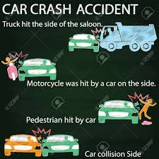 Icon For Car Crash Accident On Side Collision Paint By Chalk ...