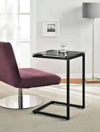 amazon com ameriwood home crane glass top c table black kitchen
