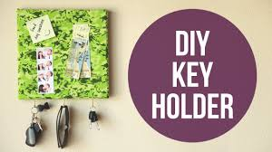 Decorative Key Rack For Wall by Easy Diy Wall Key Holder Cathydiep Youtube