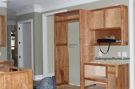 Kitchen Small Design And Decoration Using Light Brown Rustic Cherry Cabinets Including Soft