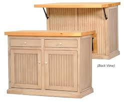 Poplar Kitchen Island with Choice of Flip Up Top