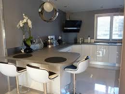 salon de cuisine beautiful cuisine gris et blanc deco photos design trends 2017