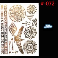 Golden Flash Tattoos The Ancient Egyptian Graphic Design One Time Temporary High Quality Gold