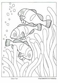 Clown Fish Coloring Ocean Animal Pages By Dwilliamswood