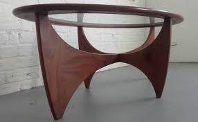 beautiful g plan oval astro teak u0026 glass coffee table u2013 whittaker