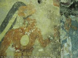San Bartolo Murals National Geographic by Is This The First Ever Photobomb 1 250 Year Old Mayan Mural Shows