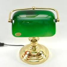 Antique Bankers Lamp Green by Brass Bankers Library Desk Top Vintage Lamp Green Glass U2013 Antique