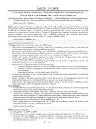 HR Business Partner Resume Example