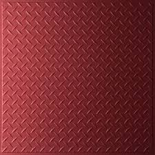 Ceilume Coffered Ceiling Tiles by Ceilume Diamond Plate Merlot 2 Ft X 2 Ft Lay In Or Glue Up