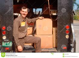 A UPS Deliveryman Editorial Photo. Image Of People, Delivery - 25964386
