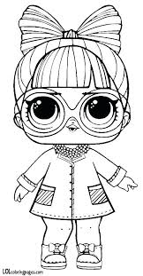 Lol Surprise Coloring Pages Series 3 Doll Page Printable
