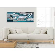 Teal Living Room Accessories Uk by Teal Grey Painting Living Room Canvas Wall Art Accessories